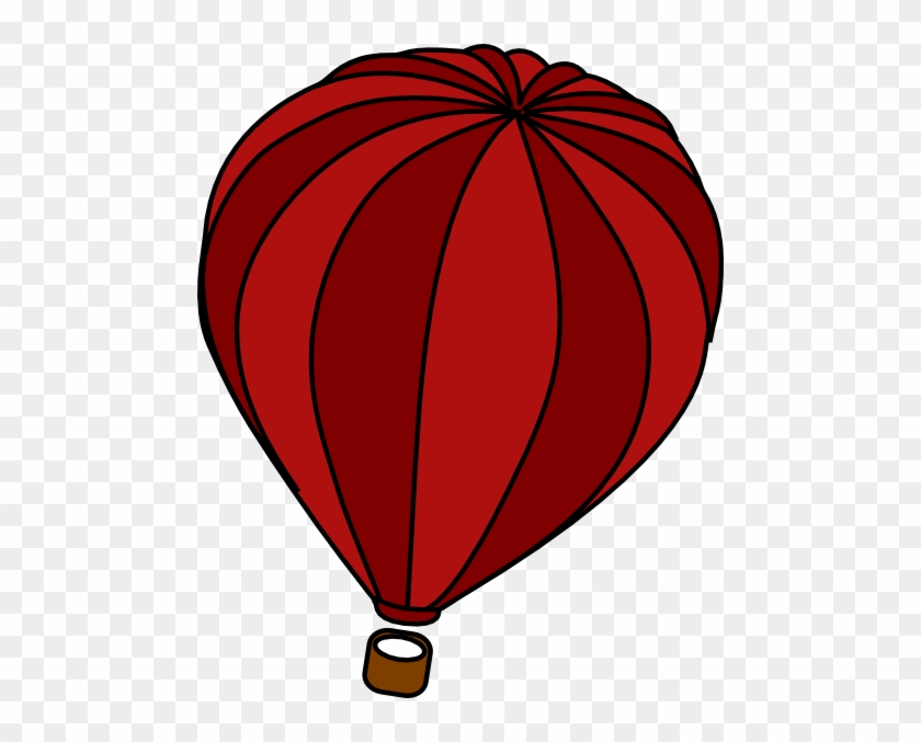 Hot Air Balloon Red Clip Art - Ghost Buster #20102