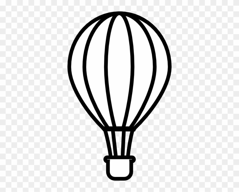 Hot Air Balloon Clipart Black And White - Hot Air Balloon Outline Clipart #20129