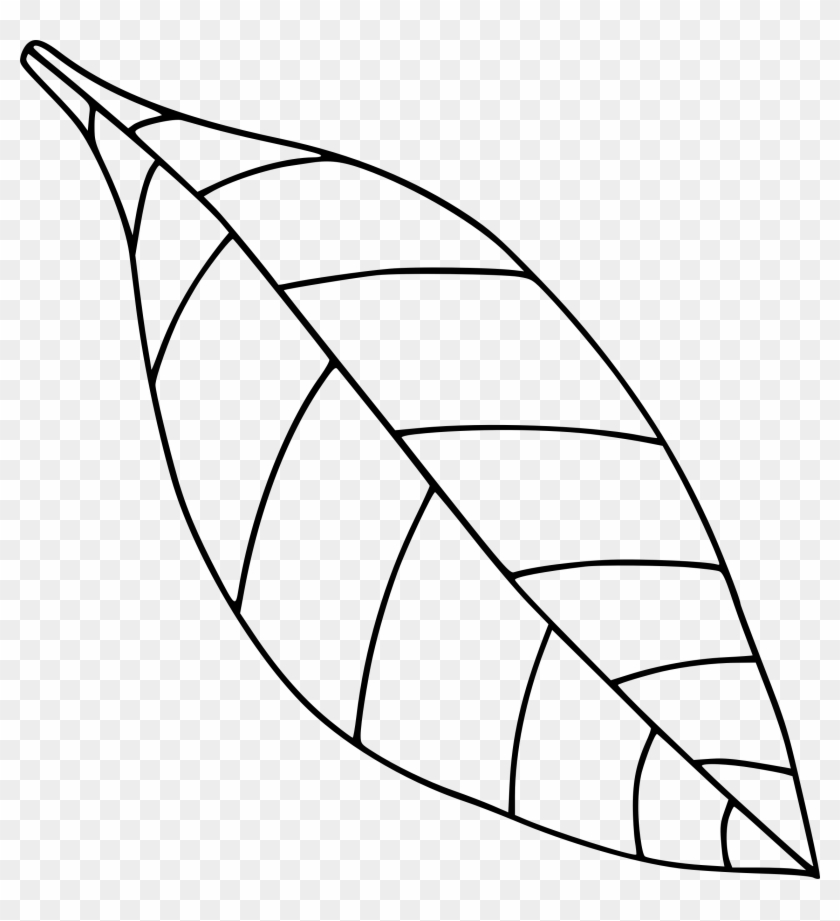 Big Image - Leaf Clipart Black And White Png #20153