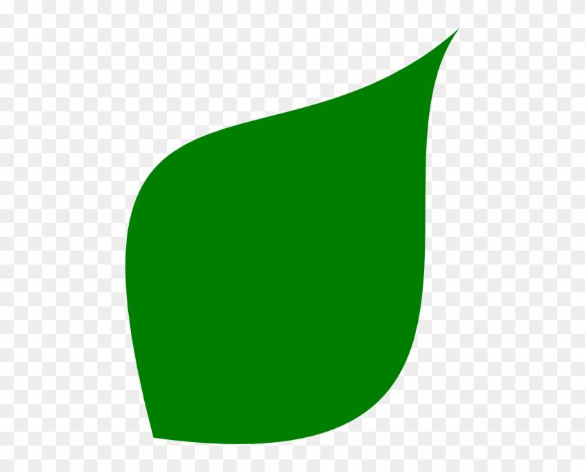 Green Leaf Clip Art At Clker - Green Leaf Shape Png #20157