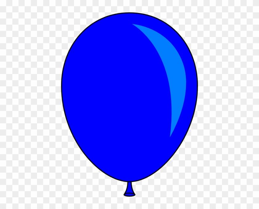 Blue Balloon Clip Art At Vector Clip Art - Blue Balloon Clipart #20164