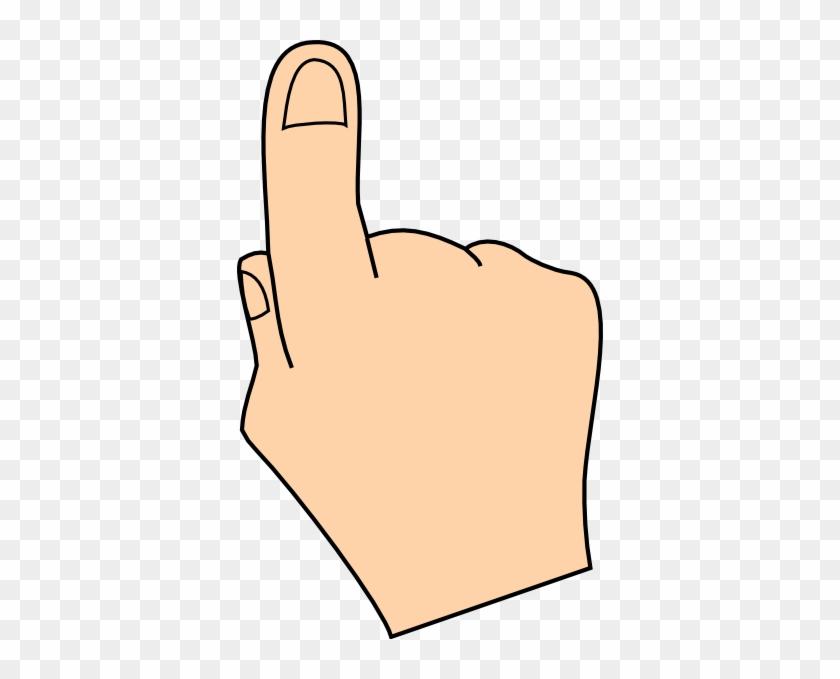 Finger Clip Art At Clker - Pointing Hand Clip Art #20170