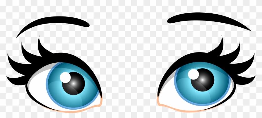 Blue Female Eyes Png Clip Art - Eyes Clip Art #20211