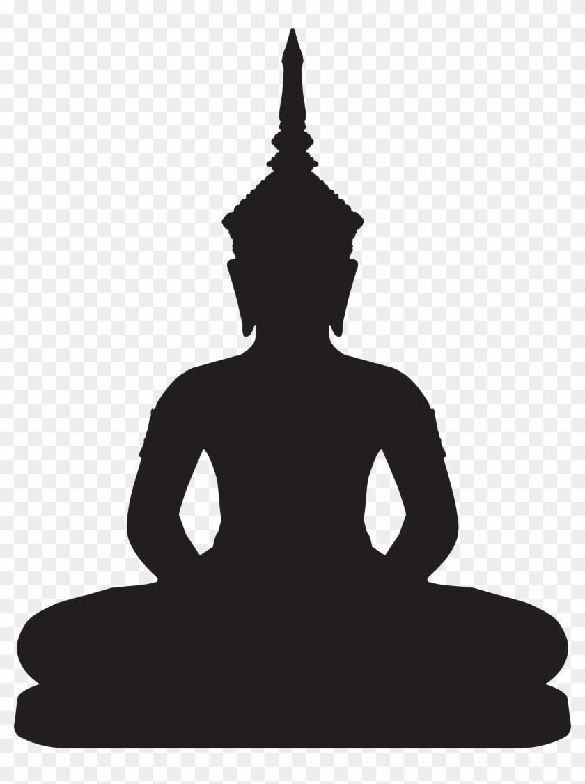 Buddha Statue Silhouette Png Clip Art - Buddha Statue Silhouette Png Clip Art #20231