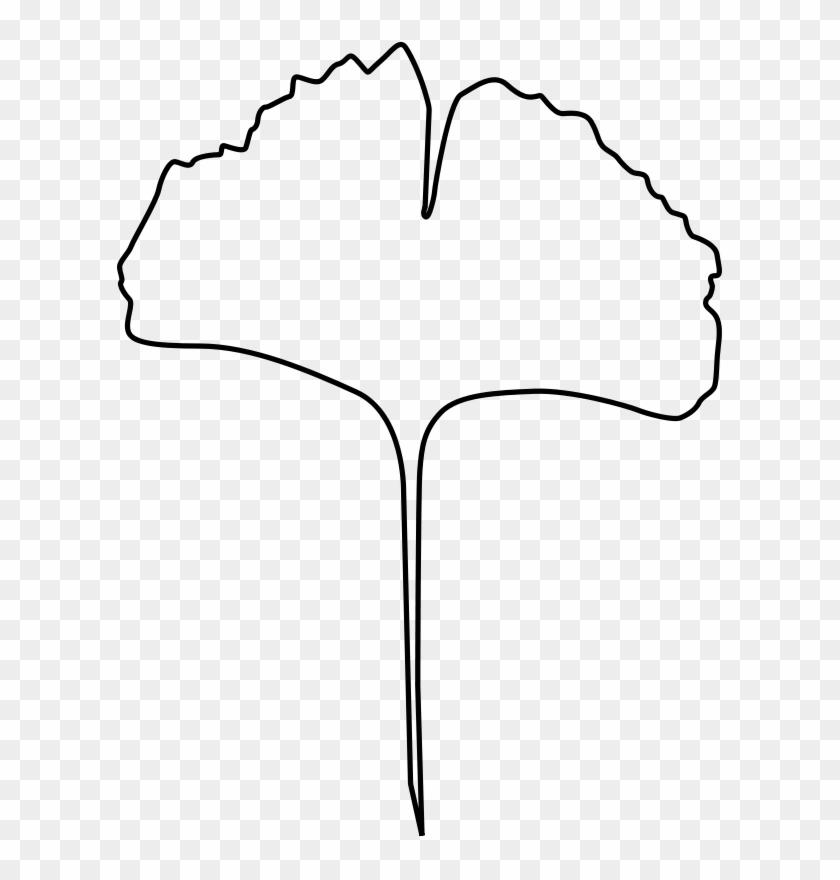 Leaf Outline Fall Leaves Clipart 3 Clipart - Ginkgoblatt Malvorlage #20259