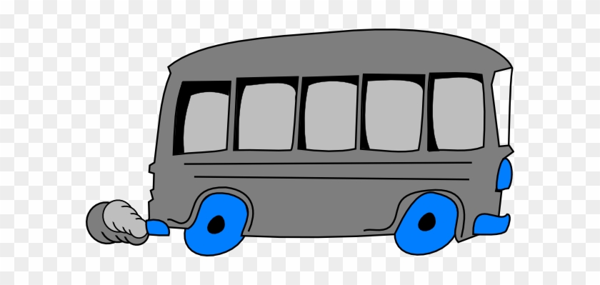Gray School Bus Clip Art At Clker - Gray School Bus #20266