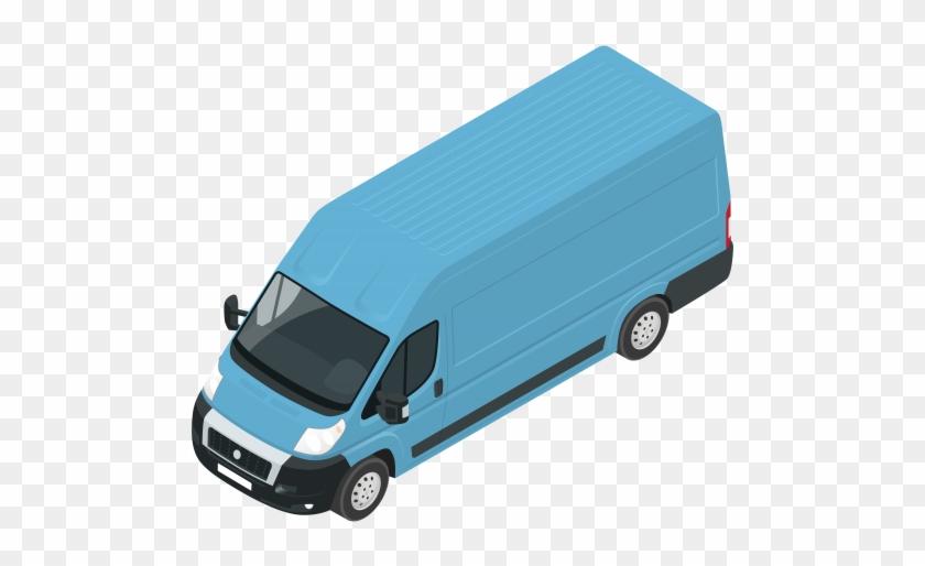 Blue Van Png Clip Art - Compact Van #20279