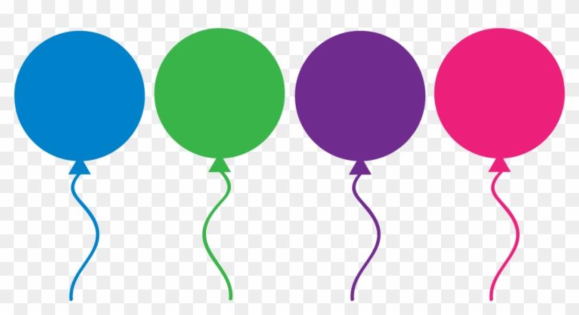 Free Birthday Balloon Clip Art - Balloon Line Clipart #20305