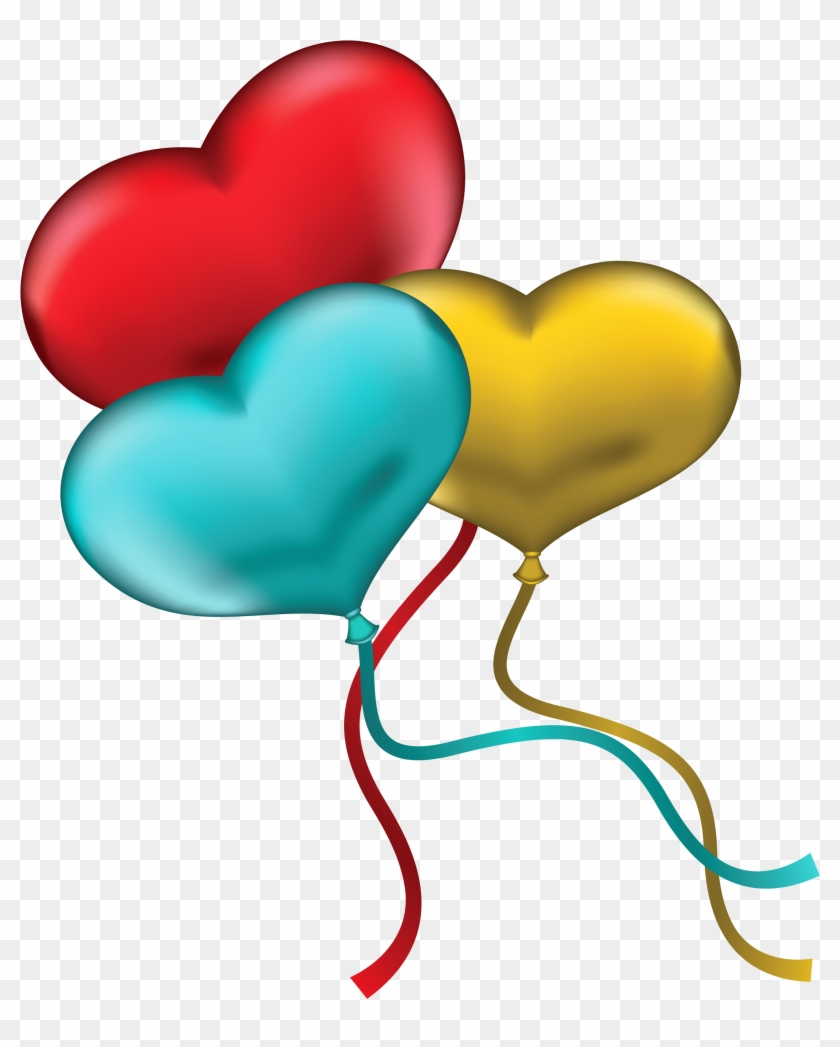 Blue Heart Balloons Clipart Clip Art Library - Red Yellow And Blue Heart #20344