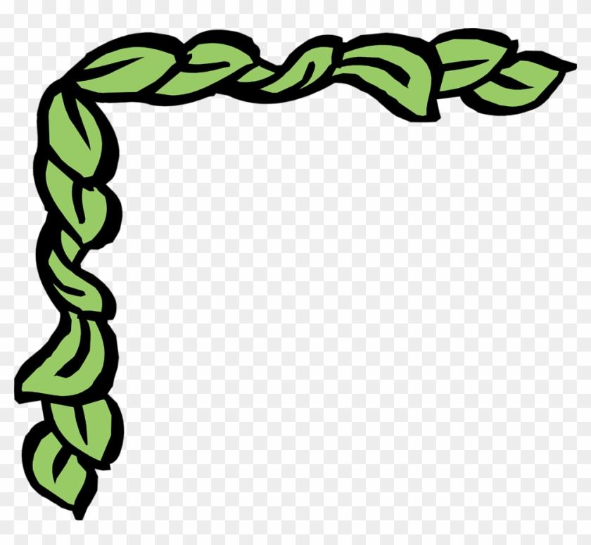 Border Corner Leaf Clipart - Roman Borders Clip Art #20333