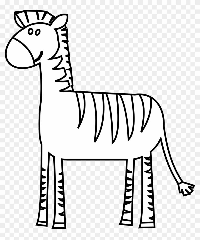 Zebra Clip Art - Zebra Black And White Clipart #20365