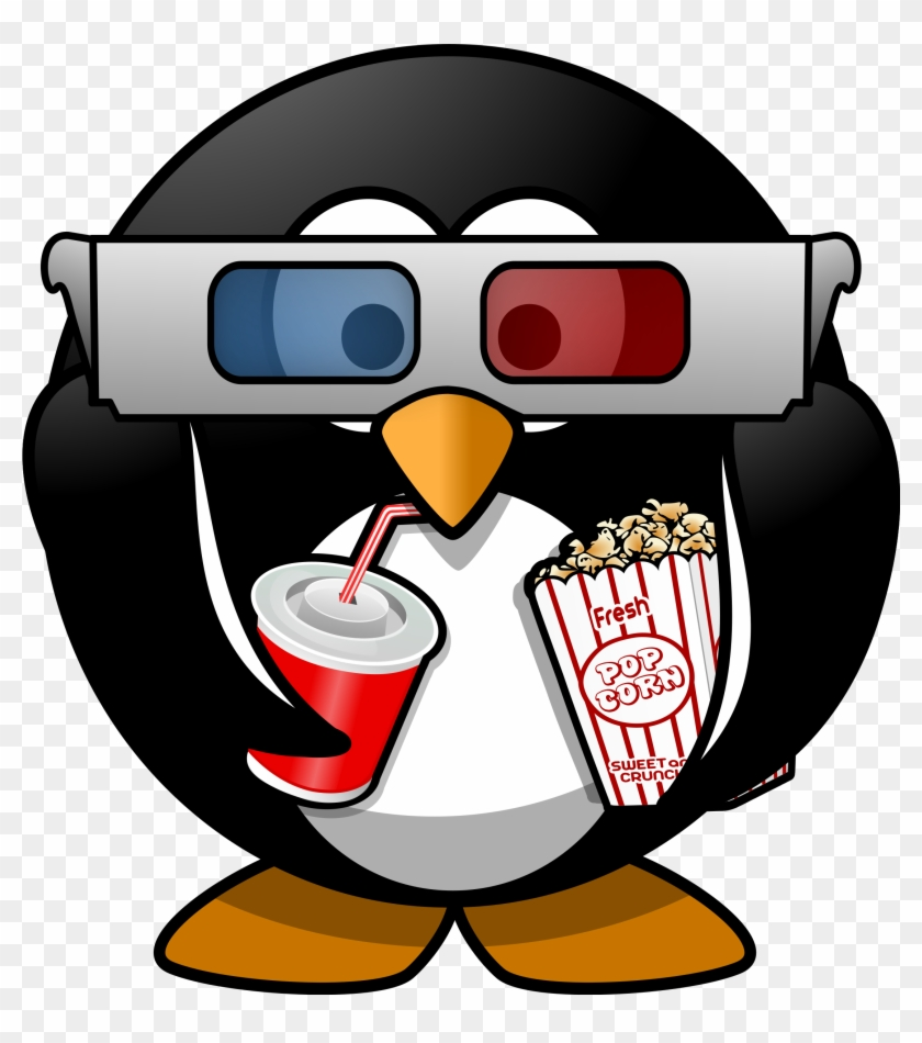 Clipart Penguin With Glasses - Cinema Clipart #20373
