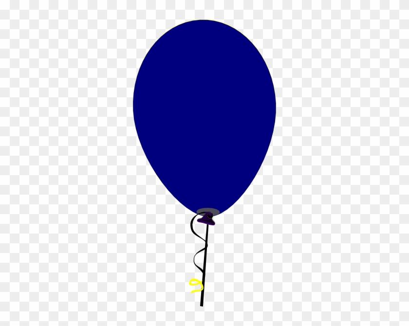 Balloon Clipart Dark Blue - Navy Blue Balloon Clip Art #20371