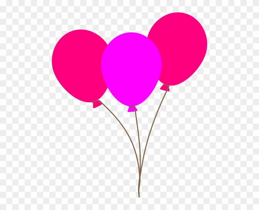 Pink Balloons Clipart Clip Art At Clker Com Vector - Clip Art Pink Balloons #20372