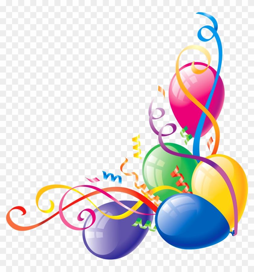 Free Balloon Clipart - Balloon Corner Border #20416
