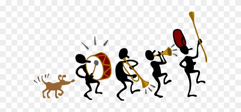 Applause Clipart Marching Band Stick Fig Clip Art1 - Parade Float Clip Art #20410