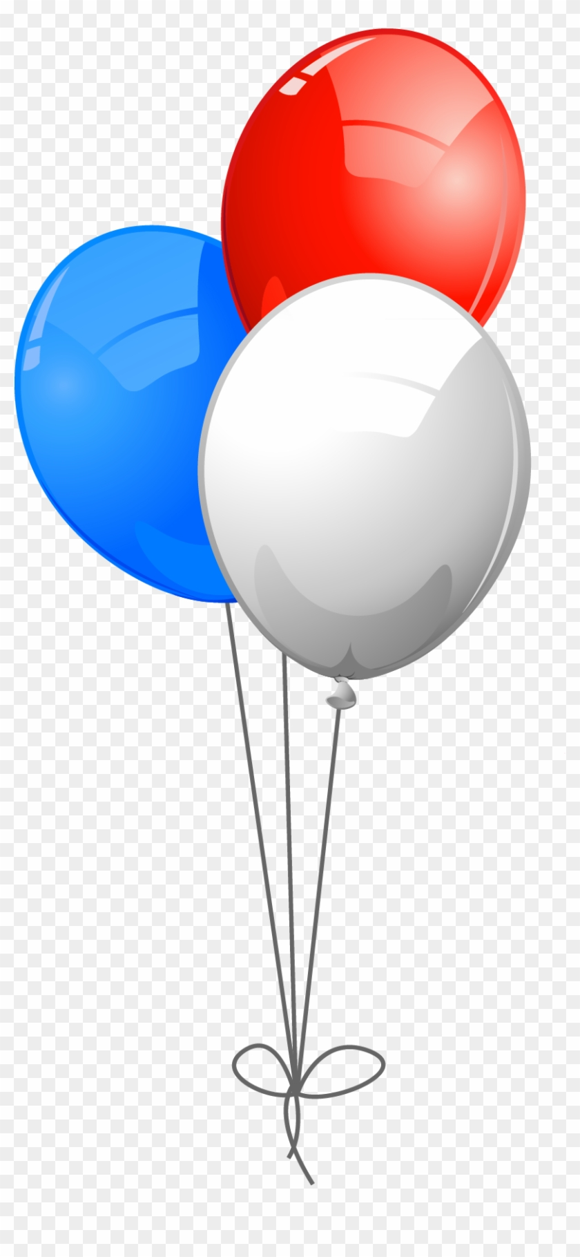 Usa Colors Balloons Png Clipart - Red White Blue Balloons #20425