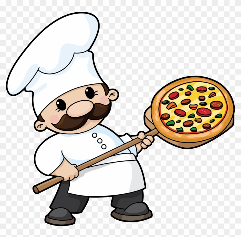 Not Your Average Pizza Place - Cartoon Chef Making Pizza #20442