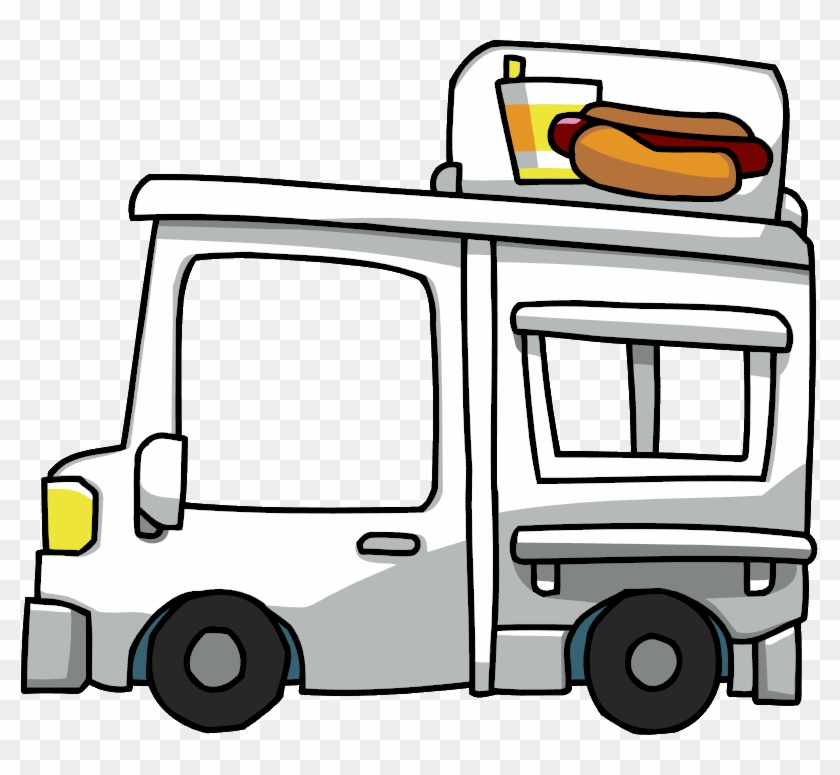 Hot Dog Fast Food Hamburger Van Cheese Sandwich - Food Truck Clipart Png #20460