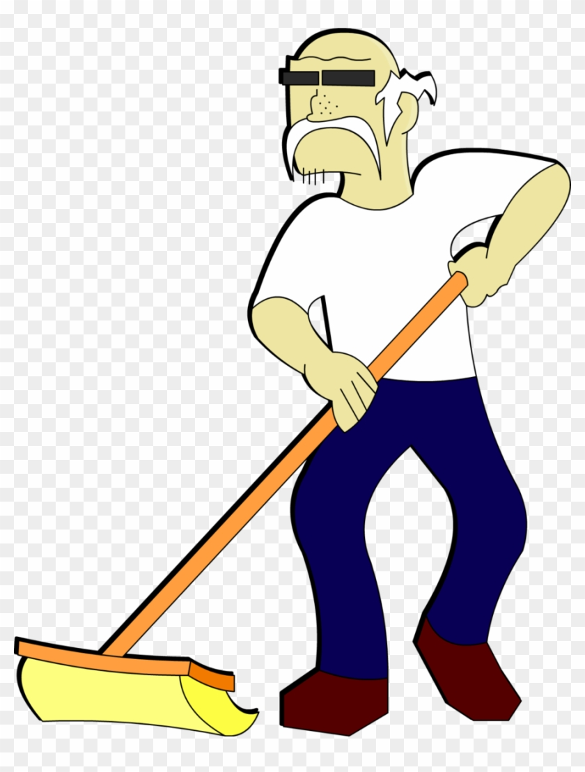Old Janitor Guy By Darkajax Old Janitor Guy By Darkajax - Cartoon Janitor Transparent #20461