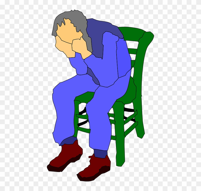 Man Sitting On A Chair Clip Art At Clker - Sitting In A Chair Clipart #20487