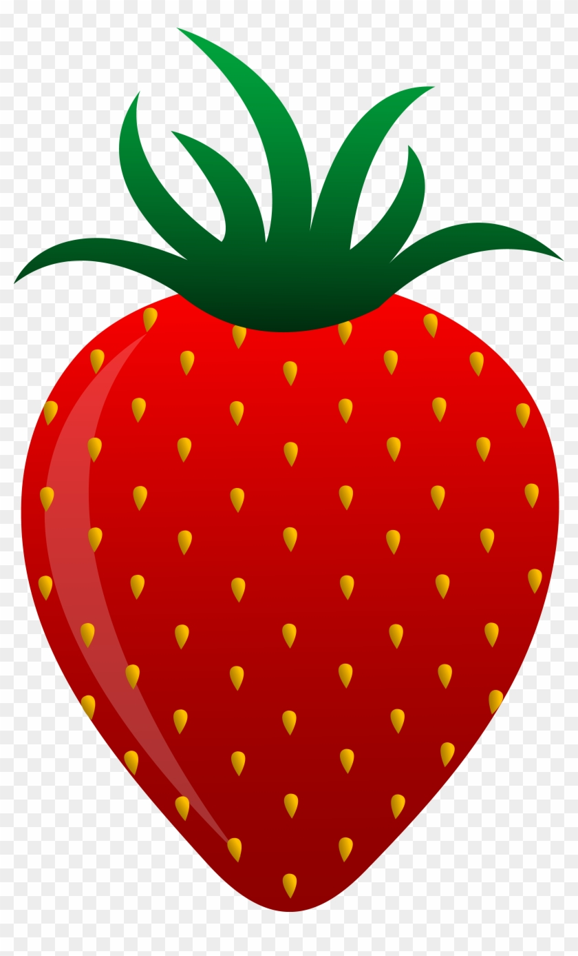 Strawberry Clipart Black And White - Red Fruits And Vegetables Clipart #20514