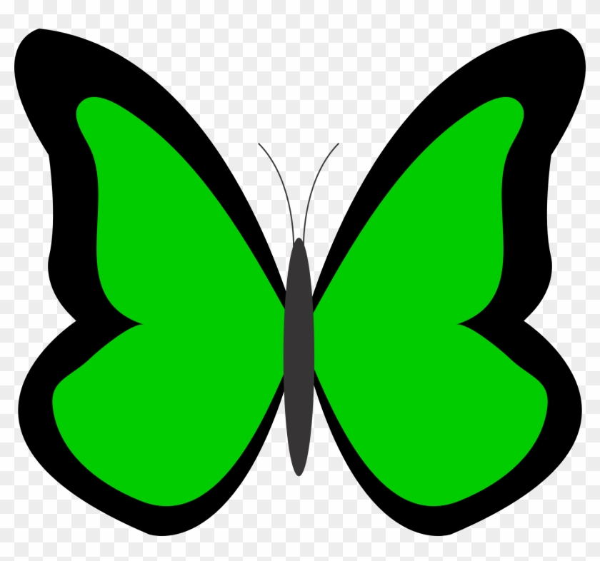 Green Butterfly Clipart Free Download Clip Art - Green Flowers Clip Art #20505