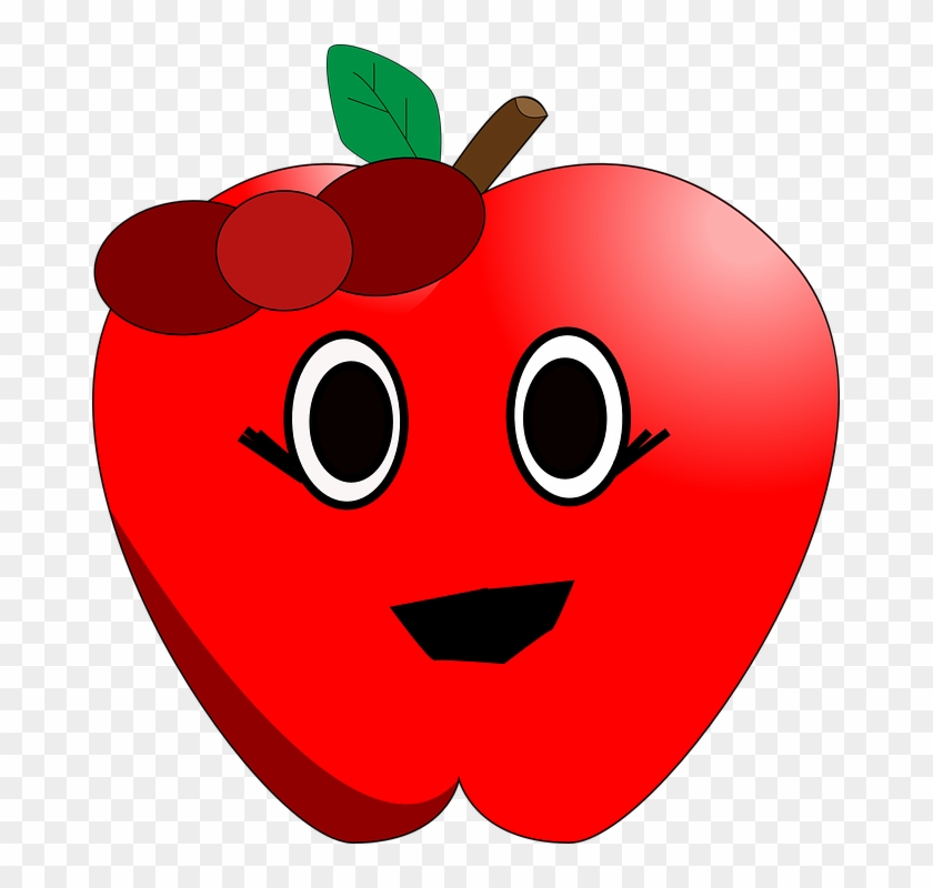 Apples Clip Art - Apple Clipart With Eyes #20512