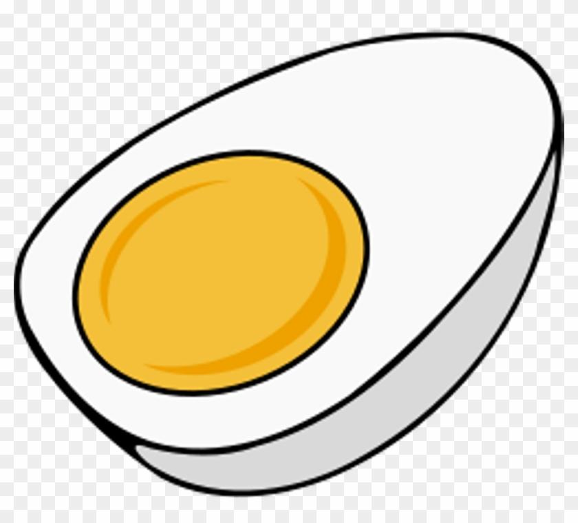 Yolk Clip Art - Hard Boiled Egg Clipart #20522