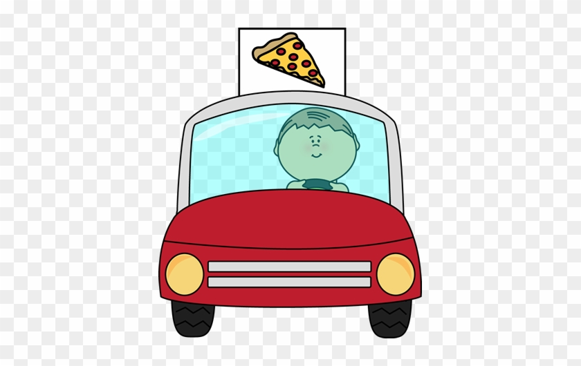 Pizza Delivery - Pizza Delivery Car Clipart #20553