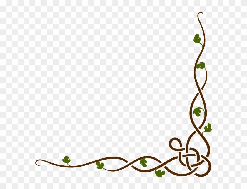 Woodland Border Clip Art At Clker Com Vector Online - Vine Border Clipart #20559