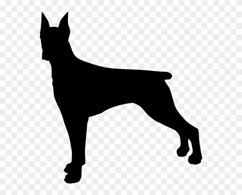 Doberman Dog Silhouette Clip Art - Doberman Silhouette #20584