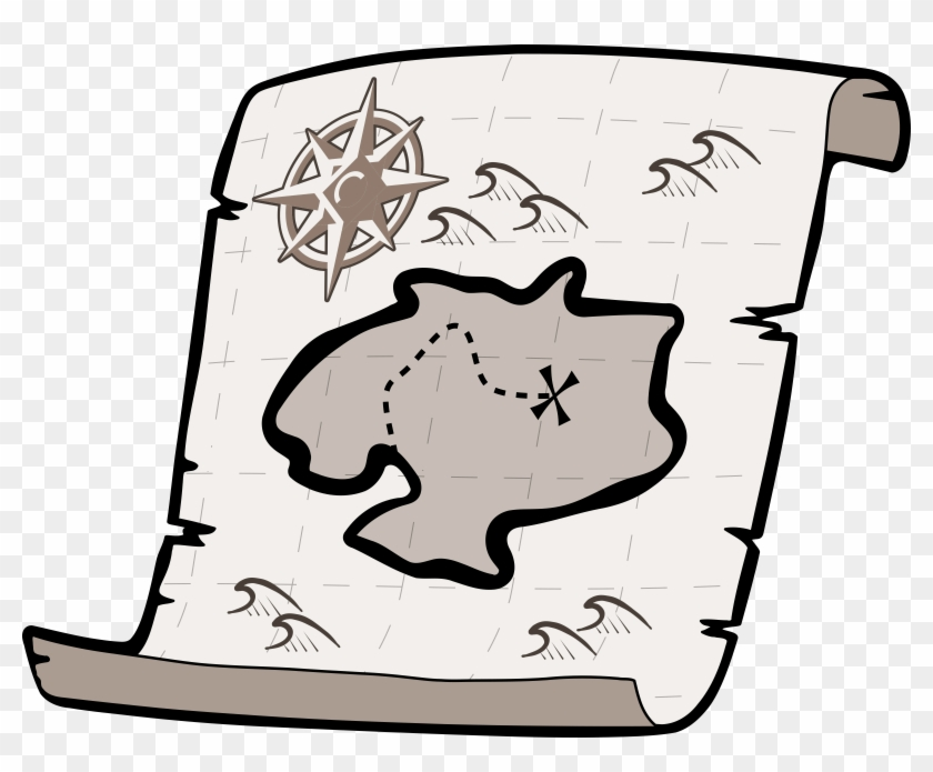 Us Map Clip Art - Treaure Map Shower Curtain #20585