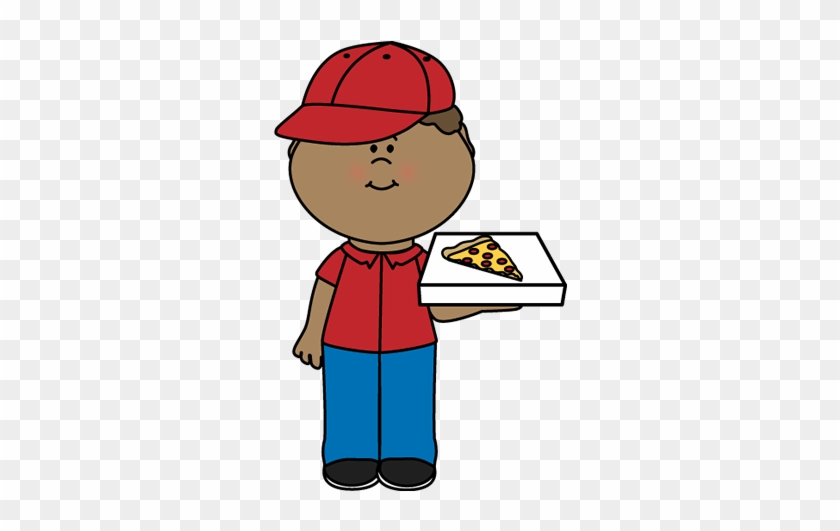 Pizza Delivery Boy - Pizza Delivery Clipart #20588