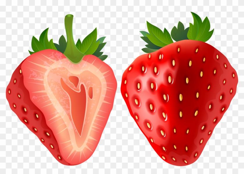 Strawberry Clipart Transparent - Strawberry Clipart Transparent Background #20684