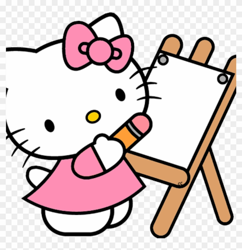 Kitty Clipart Hello Kitty Clip Art Cartoon Clip Art - Hello Kitty Coloring Pages #20657