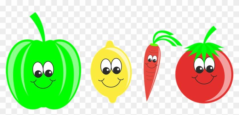Vegetables Fruit Pepper Lemon Carrot Tomat - Food #20659