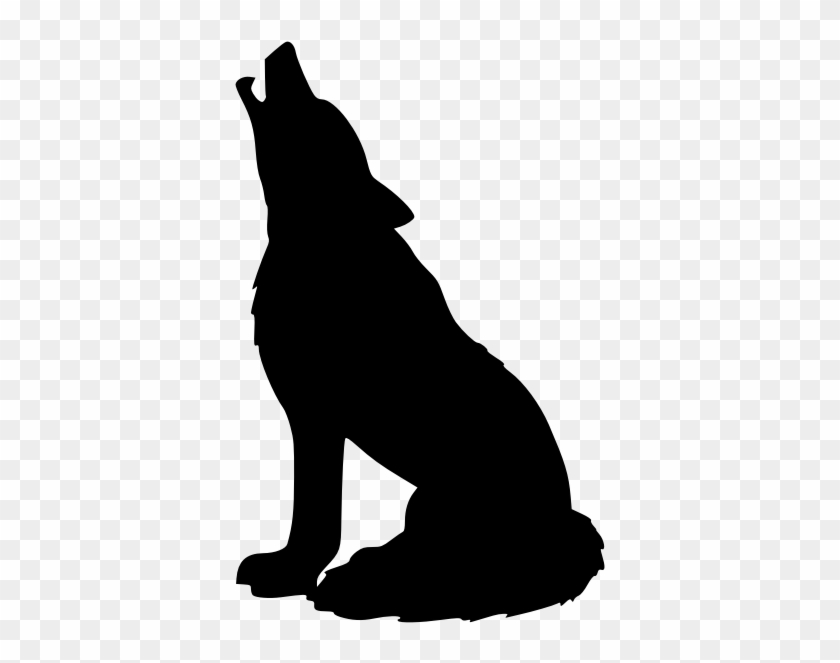 Wolf Howling Wolf Clip Art - Black Wolf Png #20666