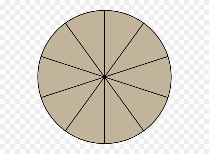 Pizza Fraction Clipart - Fraction Circles Clip Art Tenths #20676