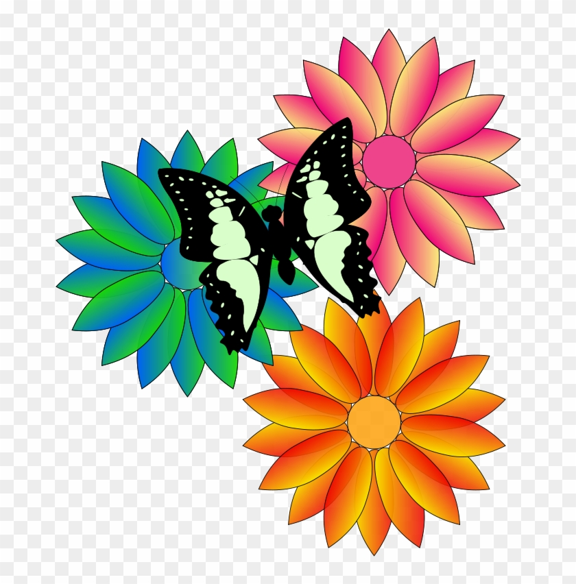Free Butterfly And Flowers - Animated Flowers And Butterflies #20681