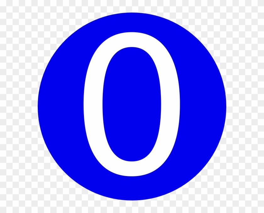 Blue, - Number 0 Clip Art #20690
