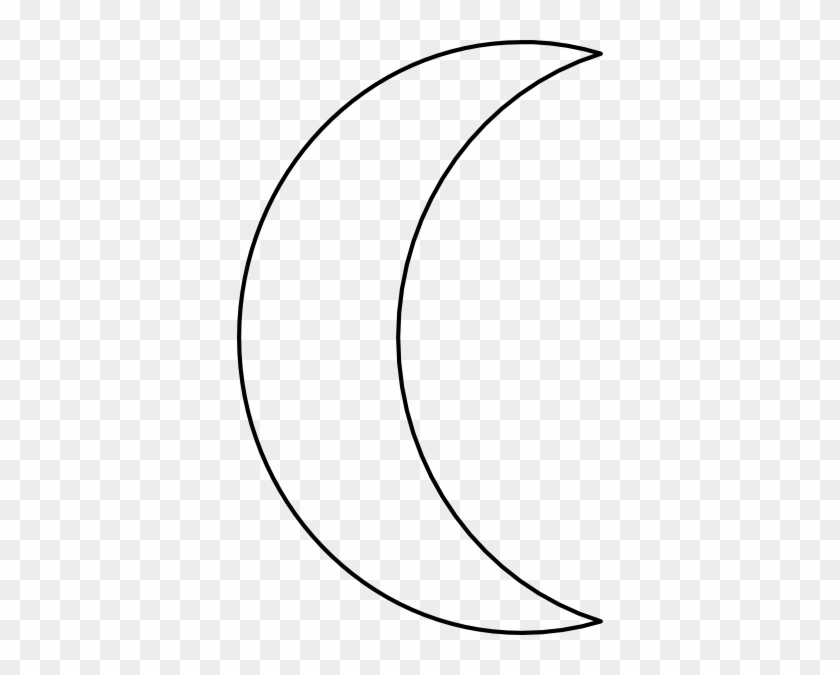 Moon Clipart - Black And White Half Moon #20696
