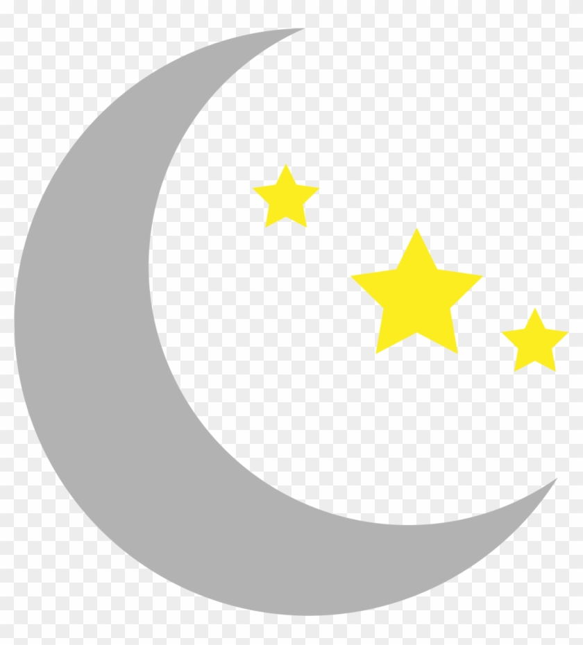Smiley Moon Clip Art Misc Clipart - Moon And Stars Clipart #20699
