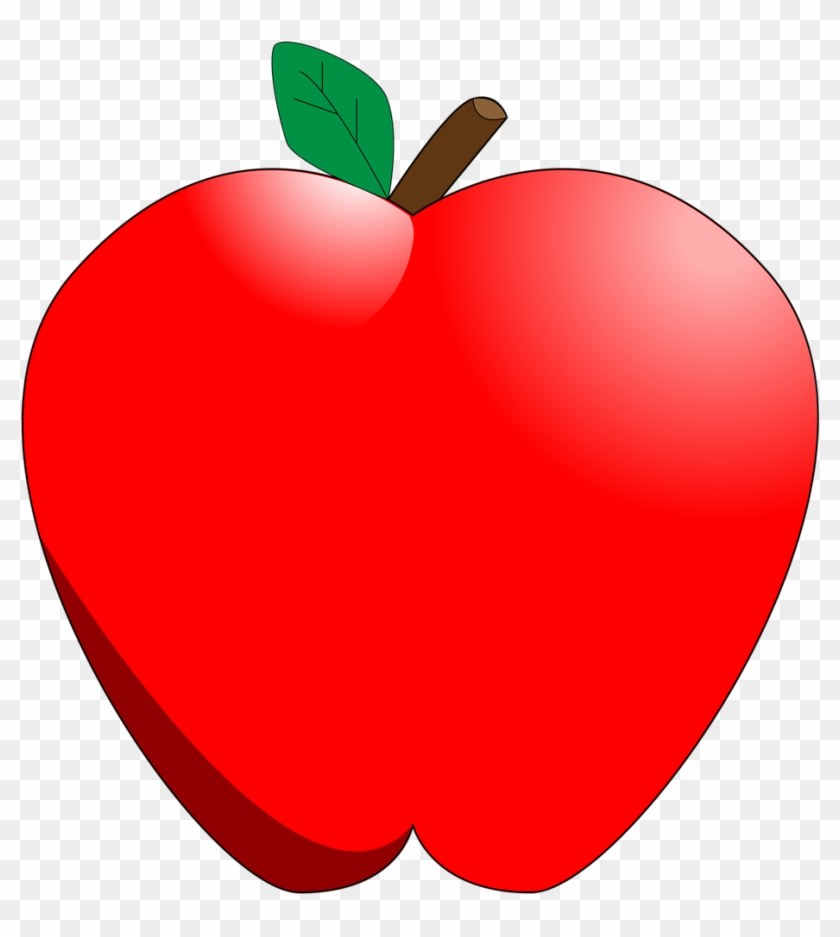 Apple Clipart Transparent Background - Cartoon Apple #20711