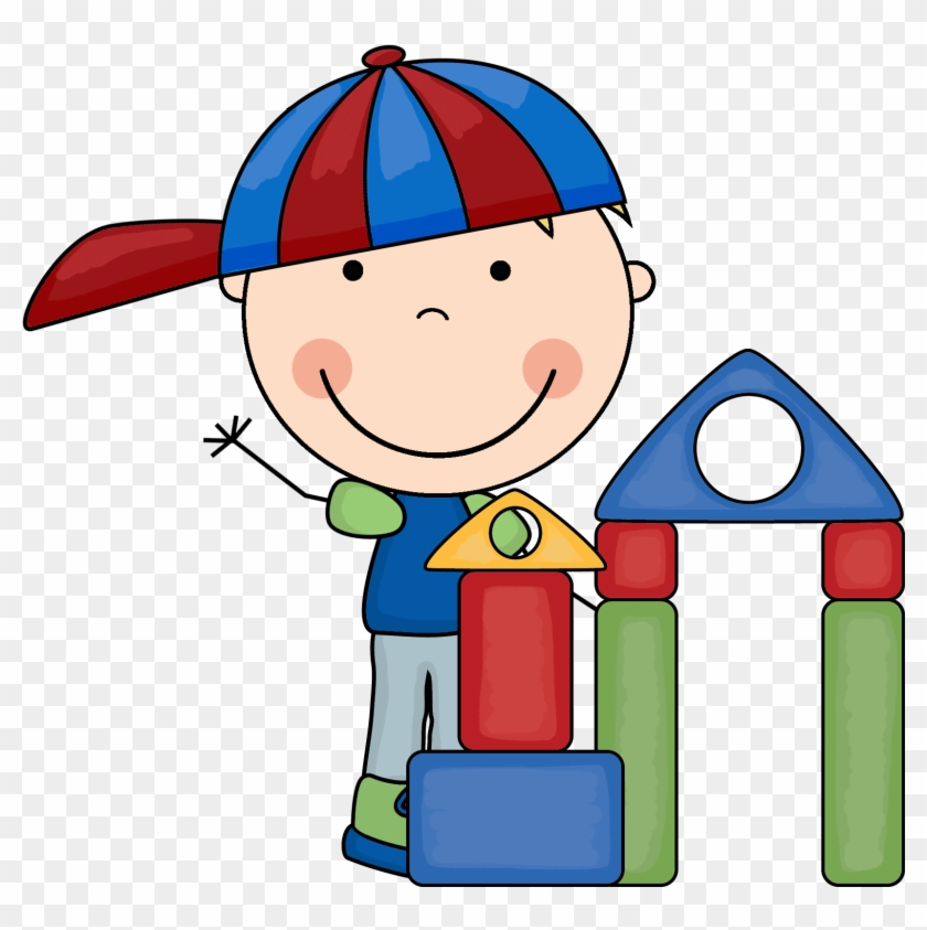 Blocks Center Clipart - Preschool Block Center Clipart #20710