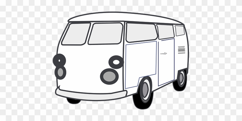 White Van Free Pictures On Pixabay Clipart Black And - Van Clip Art #20760