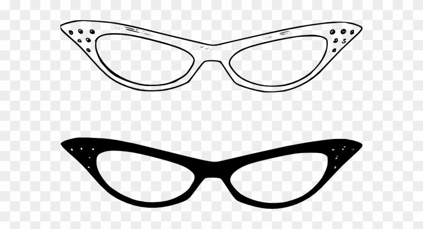 Pink Eyeglasses Clipart Clip Art 2 - Horn Rimmed Glasses Clip Art #20792