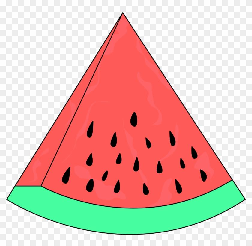 Watermelon Clip Art Fruit - Fatia De Melancia Desenho #20810