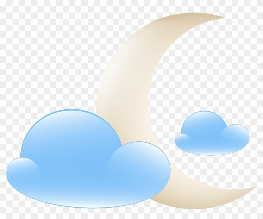 Moon With Clouds Weather Icon Png Clip Art - Moon With Clouds Weather Icon Png Clip Art #20863