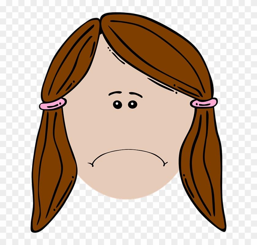 Cartoon Sad Image - Sad Girl Face Cartoon #20818
